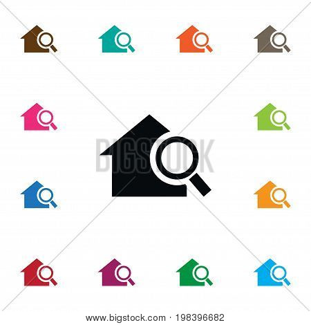 Search Vector Element Can Be Used For Home, Search, Magnifier Design Concept.  Isolated Home Icon.