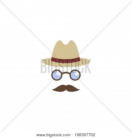Flat Icon Detective Element. Vector Illustration Of Flat Icon Inspector Isolated On Clean Background
