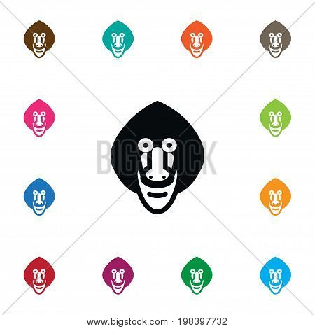 Gorilla Vector Element Can Be Used For Chimpanzee, Gorilla, Baboon Design Concept.  Isolated Chimpanzee Icon.