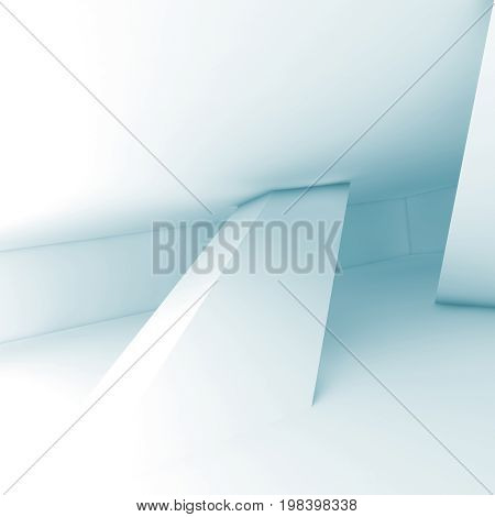 Abstract White Empty Room Interior, Render
