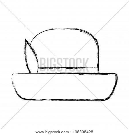 vintage top hat male head old fashion clothes elegant vector illustration