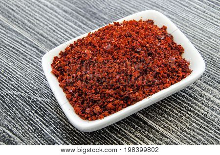 Red dry pepper, red hot pepper dry pepper in the plate, red hot pepper pictures in the package