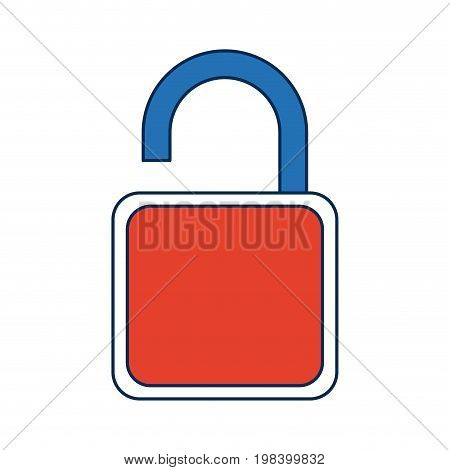 security padlock technology protection lock system vector illustration