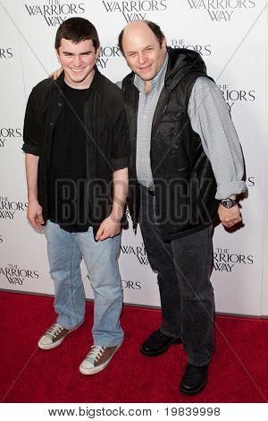 LOS ANGELES. - NOVEMBER 19:  (R-L) Jason Alexander and son Noah attend the special screening of The Warriors Way on November 19, 2010 at  CGV Cinemas in Los Angeles, CA.