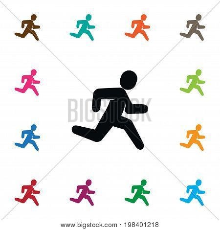 Jogging Vector Element Can Be Used For Jogging, Exercise, Running Design Concept.  Isolated Exercise Icon.