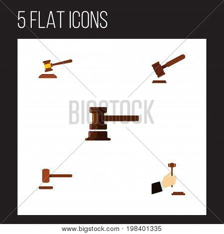 Flat Icon Lawyer Set Of Law, Defense, Justice And Other Vector Objects