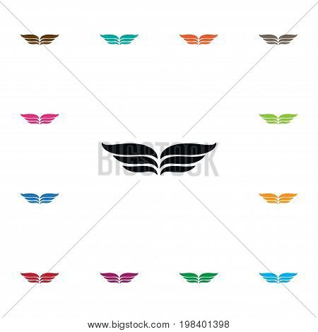 Wings Vector Element Can Be Used For Wings, Fly, Angel Design Concept.  Isolated Fly Icon.