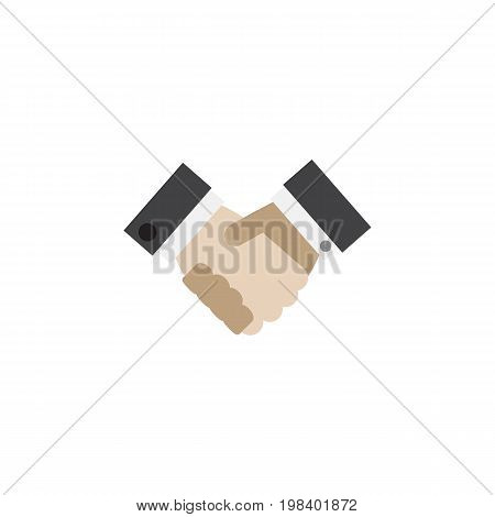 Partnership Vector Element Can Be Used For Handshake, Partnership, Greeting Design Concept.  Isolated Handshake Flat Icon.