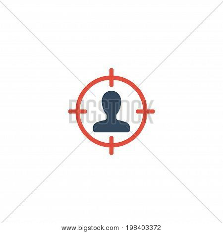Flat Icon Suspect Element. Vector Illustration Of Flat Icon Suspicious Isolated On Clean Background