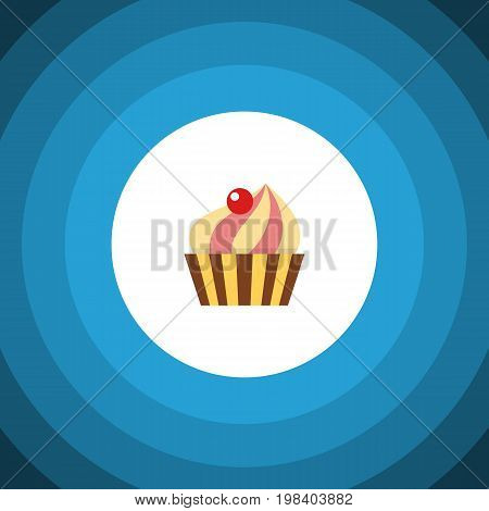 Sweetmeat Vector Element Can Be Used For Sweetmeat, Confectionery, Cupcake Design Concept.  Isolated Confectionery Flat Icon.