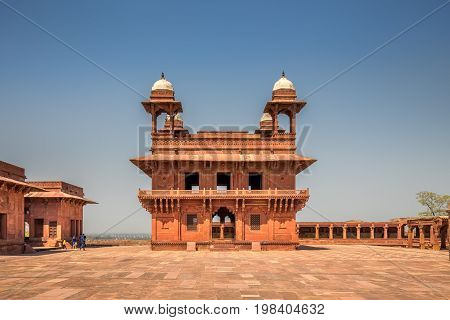 Antient abandoned city of Fatehpur Sikri n the Agra District of Uttar Pradesh, India.