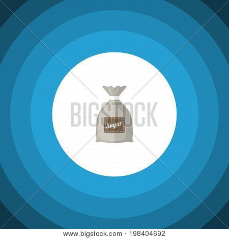 Sack Vector Element Can Be Used For Sugar, Sack, Bag Design Concept.  Isolated Sugar Bag Flat Icon.