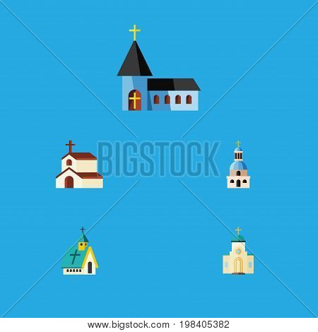 Flat Icon Christian Set Of Christian, Religion, Church And Other Vector Objects