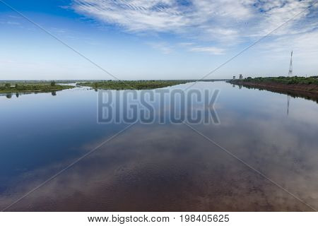 Northern Dvina River near the town of Kotlas