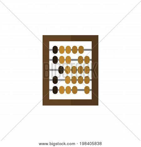 Counter Vector Element Can Be Used For Counter, Abacus, Calculator Design Concept.  Isolated Abacus Flat Icon.