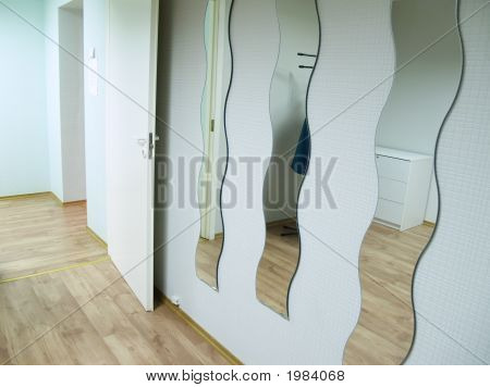 Mirrors In Make-Up Room