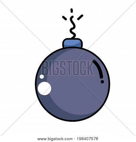 danger bomb weapon explosive that used in the war vector illustration