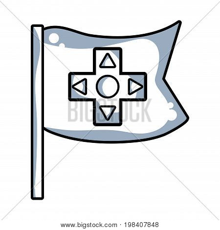line videogame symbol to play and videogame technology vector illustration