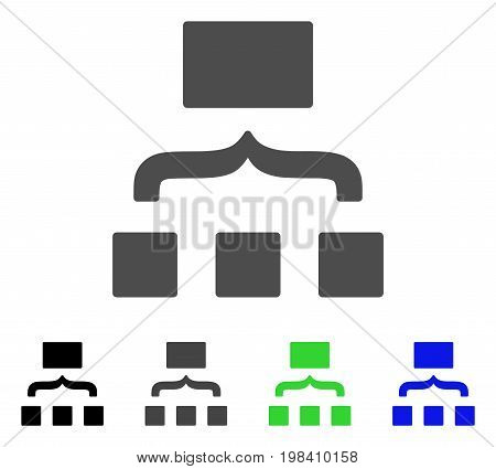 Scheme flat vector pictogram. Colored scheme, gray, black, blue, green icon versions. Flat icon style for graphic design.
