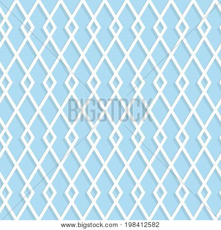 Seamless Rhombuses Pattern On A Blue Background