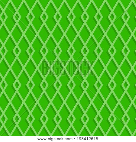 Seamless Rhombuses Pattern On A Green Background