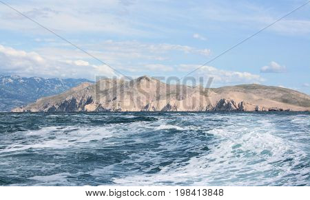 boating from Mala Luka back to Baska, island Krk, Croatia