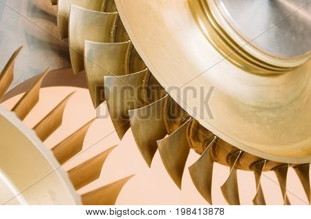 Blades On A Disk For Turbines Made Of Various Metal Alloys