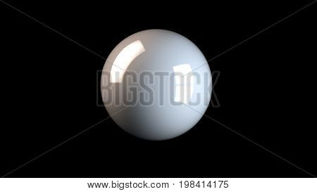 3D Rendering Of White Reflected Sphere