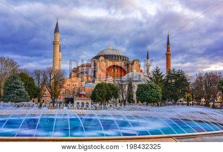 Hagia Sofia church in Istanbul, Constantinople, Turkey