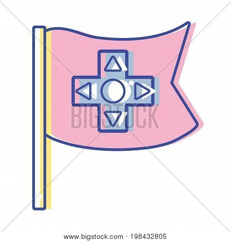 videogame symbol to play and videogame technology vector illustration