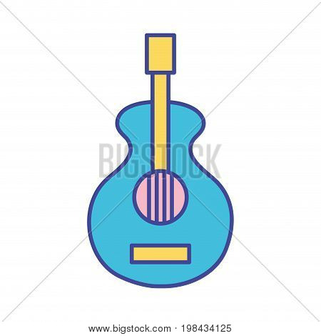 guitar music instrument to melody harmony vector illustration