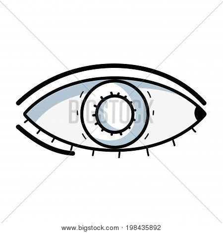 line heathy eye vision and optical care vector illustation