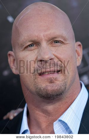 """HOLLYWOOD, CA. - AUG 3: """"Stone Cold"""" Steve Austin arrives at The Expendables Los Angeles premiere at Grauman's Chinese Theater on August 3, 2010 in Hollywood, Ca."""