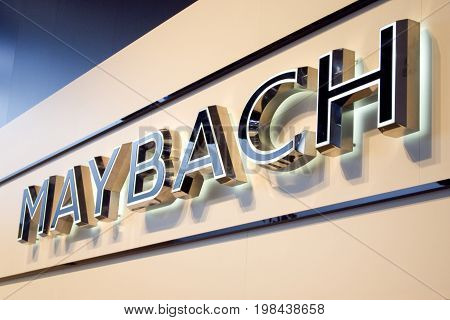Moscow, Russia - August 05, 2010: Logo and name of the company