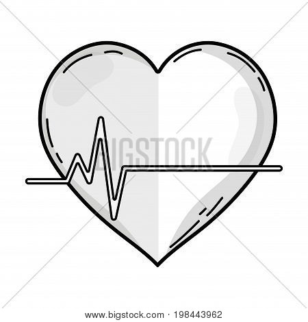 line frequency vital cardiac rhythm heartbeat vector illustration