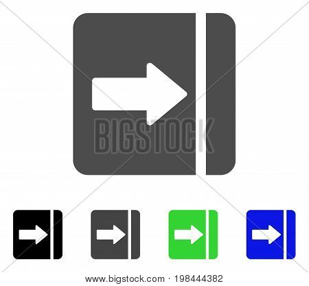 Expand Menu Right flat vector icon. Colored expand menu right, gray, black, blue, green pictogram variants. Flat icon style for graphic design.
