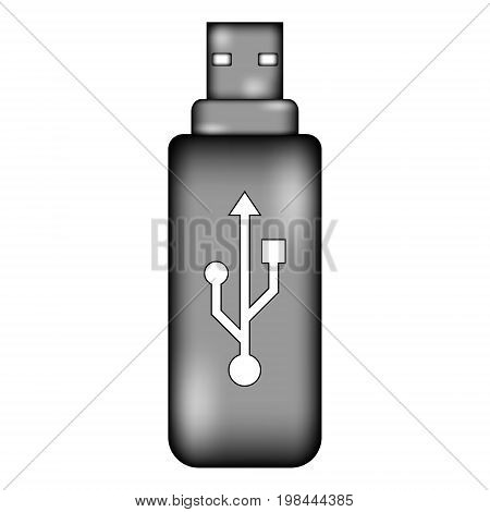 Usb flash sign icon on white background. Vector illustration.