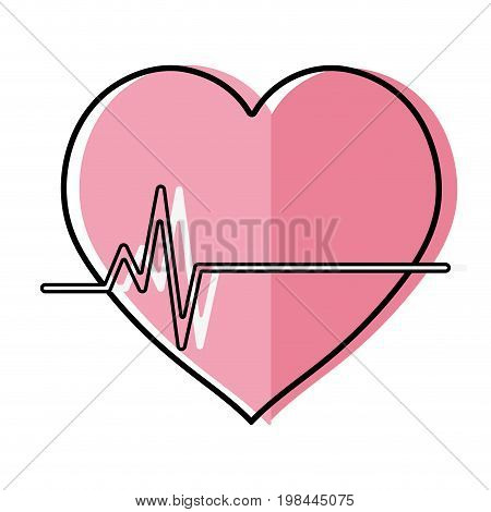 frequency vital cardiac rhythm heartbeat vector illustration
