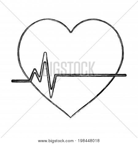 figure frequency vital cardiac rhythm heartbeat vector illustration