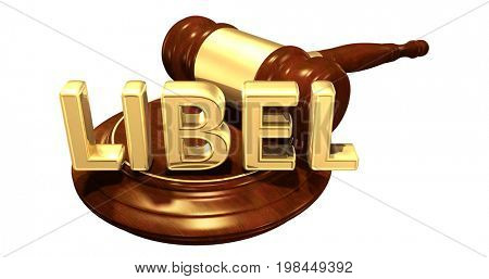 Libel Law Concept 3D Illustration