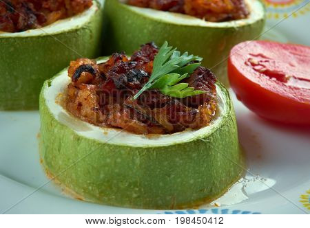 Turkish Zucchini Stuffed