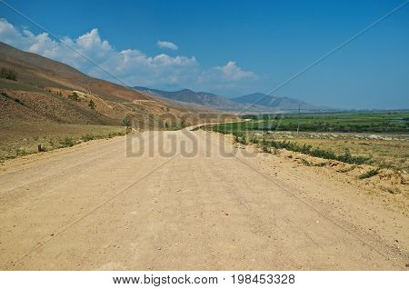 Ulan-Ude route Kurumkan Barguzin valley Buryatia Russia.