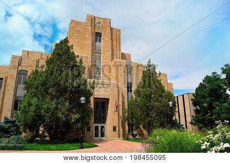 Boulder County Colorado Art Deco Sandstone Courthouse