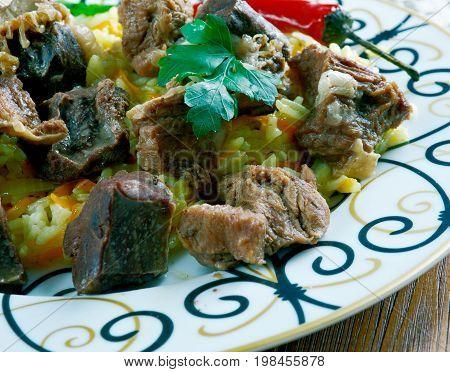 Uzbek Rice Dish With Lamb