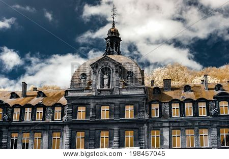 Belgian Classic Architecture View In Infra-red Colors