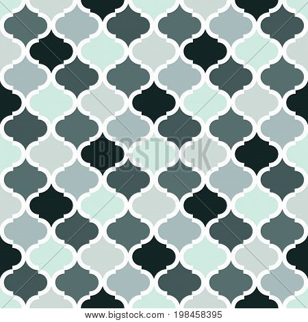 Geometric trellis pattern. Grey seamless background. Screen print vector texture. Website textured pattern. Oriental seamless background. Vector seamless pattern for interior design