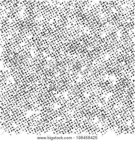 Grunge texture Black and white spotted background Halftone effect Screen print distressed texture