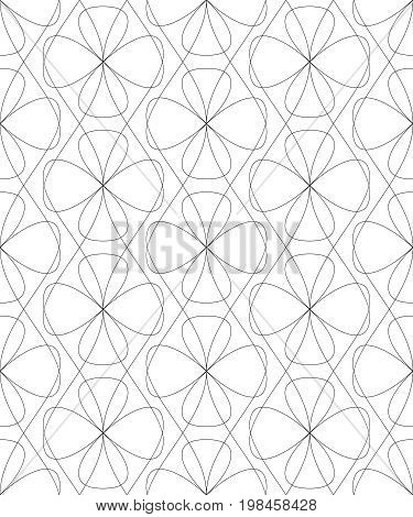 Abstract seamless background trellis pattern linear seamless pattern screen print texture in black and white