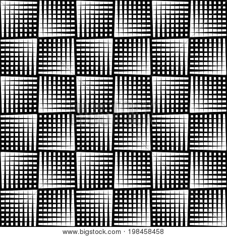 Seamless halftone pattern. Geo geometric background screen print texture black and white vector graphic seamless fabric print seamless halftone background digital technology background