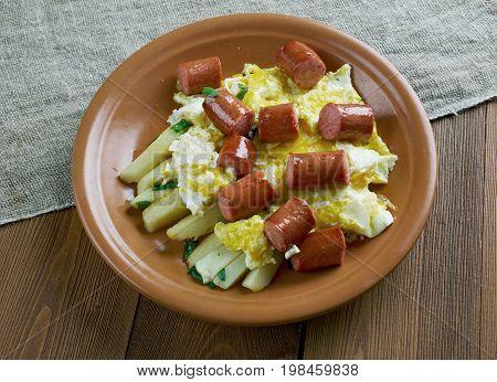 Huevos Rotos Con Chistorra
